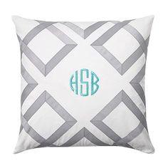 Lattice Monogram Pillow Covers #pbteen