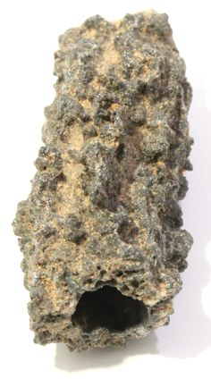 Fulgurite caused by lightning when it strikes the sand. Specimen from the Sahara Desert. Minerals And Gemstones, Rocks And Minerals, Natural Gemstones, Fulgurite, Desert Glass, Rock Hunting, Some Times, Amazing Nature, Fossils