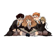 Harry Potter trio · When in doubt, go to Hermione