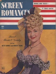 Betty Grable on the July 1943 Screen Romances