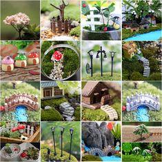 Mini Craft Figurine Plant Pot Garden Ornament Miniature Fairy Garden Decor DIY - Ornament Plants - Ideas of Ornament Plants Fairy Figurines, Miniature Figurines, Garden Decor Items, Garden Crafts, Garden Projects, Art Deco Decor, Decoration, Fairy Garden Ornaments, Lawn Ornaments