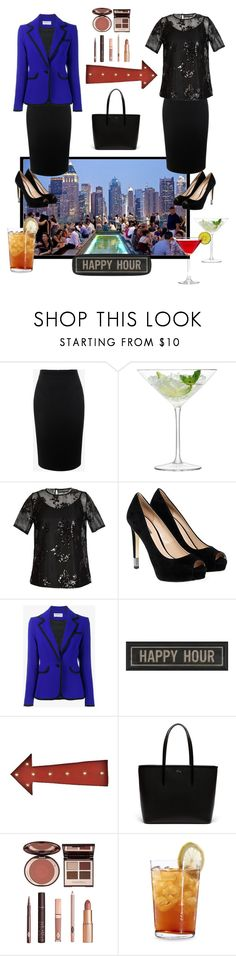 """""""Happy hour....work to rooftop bar"""" by jsmith197170 ❤ liked on Polyvore featuring Alexander McQueen, LSA International, Jelena Bin Drai, GUESS, Osman, The Artwork Factory, Lazy Susan, Lacoste, Charlotte Tilbury and Schott Zwiesel"""