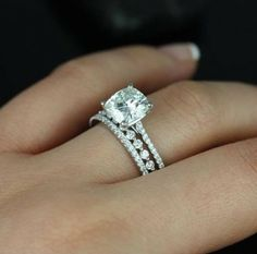 Perfect ring! Love the bands with the engagement ring.