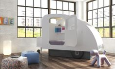 Kids Bedroom with Cool Kids Bed Design Ideas: Amazing Modern Kids Bedroom Design Ideas With Unique Kids Beds Design Ideas And Lovely Wood Floors Ideas And With Window Treatment Ideas Also Lovely Simple Unique Decor Ideas Childrens Bedroom Furniture, Childrens Beds, Kids Furniture, Furniture Stores, Building Furniture, Cheap Furniture, Furniture Design, Modern Kids Beds, Cool Beds For Kids