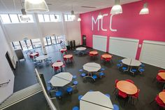 A case study on Mortimer Community College, South Shields, Tyne and Wear a new build under the STaG BSF where British Thornton providing all fixed and loose furniture and equipment. Community College, New Builds, Case Study, Dining Area, Education, Home Decor, Decoration Home, Room Decor, Teaching