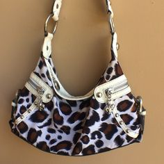 Kathy Van Zeeland Bag  Animal print. Bag is approx 6 inches tall, and 10 inches wide. Please feel free to ask any questions. Kathy Van Zeeland Bags Shoulder Bags