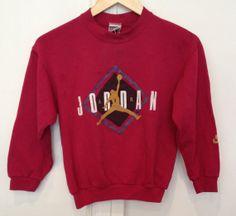 Vintage 90's AIR JORDAN NIKE Cropped Sweatshirt #jordan #nike #90s