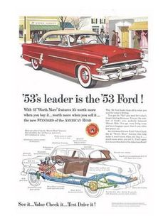 Premium Giclee Print: Ford 1953 Leader is the Ford : 48x36in