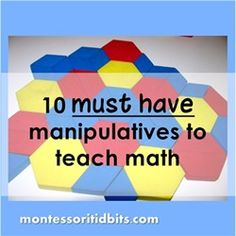 10 must have manipulatives to teach math
