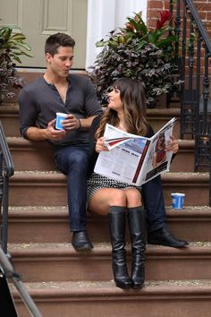 Oh snap looks like Rachel is moving on in Glee S4 spoiler photos of Rachel and Brody