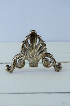 Silver Plated Letter Holder by GenerationUpcycle on Etsy
