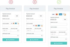 The anatomy of a credit card form — User Experience Design (UX) — Medium