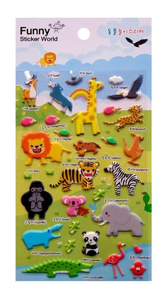 Sticko ANIMALS PUFFY Stickers