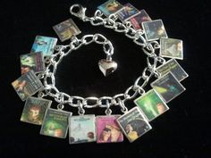 NANCY DREW Book Covers Charm Bracelet 17 Book Covers