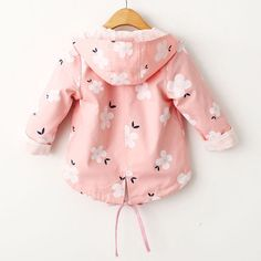 f8f3b4a37 Floral Print Girls Coat Spring Autumn Hooded Girls Windbreaker Baby Girls  Jacket Kids Trench Coat On Sale - NewChic