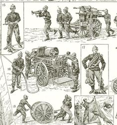Old firemen print firefighters 1922 vintage French by annelondez1, $9.90
