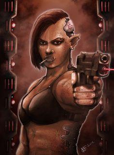 Cyborc female by NergalArt