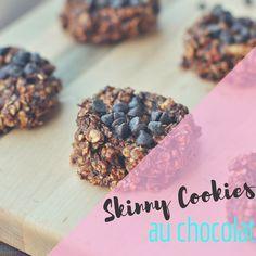 """Biscuits """"skinny"""" santé au chocolat (Tiré du blog POP SUGAR)    VISITEZ www.mamanhippie.com pour la recette!"""