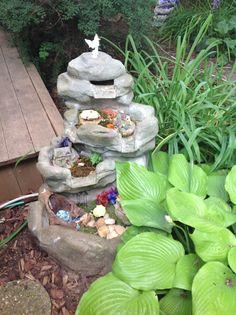 Fairy garden made from broken water fall.
