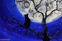 Full Moon Modern Painting