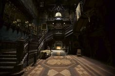 "honey bunny's bar: atmospheric scenery estate allerdale hall from the movie ""Crimson Peak"""