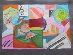"""""""Arte final""""Proceso de geometrización de las formas halladas en las distintas perspectivas tomadas de las fotografías , esquematizando alguno de sus  planos  y realizando una sincretización  de los elementos que la componen, como consecuencia de esta intervención, he llegado a realizar una composición esquemática del conjunto contando con superposiciones geométricas de las formas, utilizando fondos de colores en contraste con las formas principales, tratando de alcanzar una perspectiva…"""