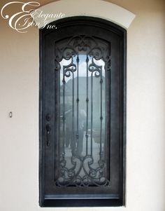 Custom wrought iron door. Decor, Doors, Single Doors, Windows And Doors, Wrought Iron Doors, Home Decor, Iron Doors