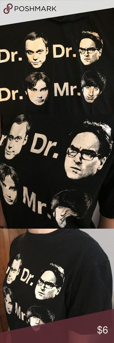 Big Bang Theory tee shirt size s Gently used novelty T shirt... black, no fading Tops Tees - Short Sleeve
