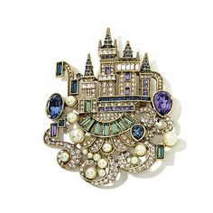 """Heidi Daus """"Enchanted Castle"""" Crystal Pin ~ I'm in love with the new pieces!"""