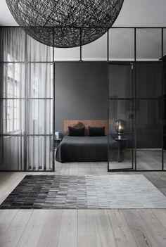 Master Bedroom Interior Design | Grey color is an ideal color for contemporary interiors. www.masterbedroomideas.eu