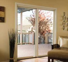 Pella Impervia fiberglass sliding patio doors offer unsurpassed strength and durability, with improved draft protection for higher energy efficiency. Sliding Patio Doors, Sliding Glass Door, Glass Doors, Back Doors, Door Design, Windows And Doors, Paint Colors, Porch, How To Plan