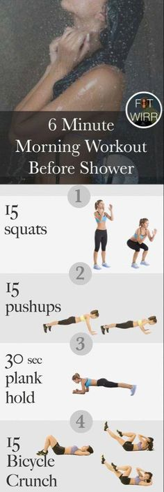6-Min Morning Workout Routine to Get in Shape - Fitwirr