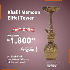 Khalil Mamoon Eiffel Tower De R$ 2.000,00 / Por R$ 1.800,00 Em até 18x de R$ 130,77 Compre Online: http://www.lojadoarguile.com.br/khalil-mamoon-eiffel-tower