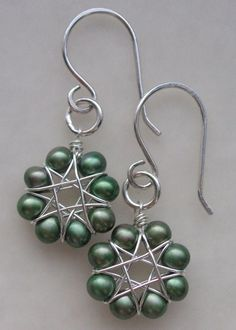 Wire and beads earrings from LC.Pandahall.com