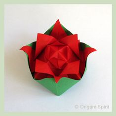 Post image for How to make an Origami Nested Rose