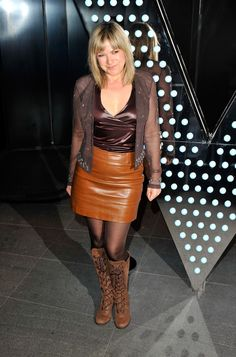 Penny Smith Photos Photos - Penny Smith arrives for the opening of the new 'W' Hotel in Leicester Square at W London Leicester Square on March 2011 in London, England. - W London Leicester Square - Launch Party Arrivals Short Skirts, Mini Skirts, Tight Skirts, Penny Smith, Tv Girls, Skirts With Boots, Stocking Tights, Tv Presenters, Blouse Outfit