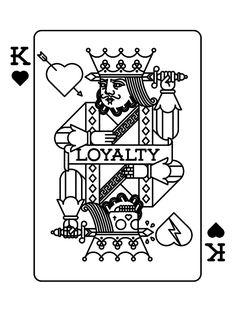 Loyalty by bnomio, via Behance King Tattoos, Body Art Tattoos, Tattoo Drawings, Sleeve Tattoos, Playing Card Tattoos, Playing Cards Art, Old School Tattoo Designs, Heart Tattoo Designs, King Of Hearts Tattoo