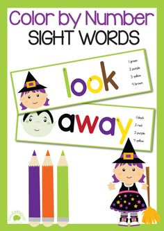Super fun with Dolch sight words with this color by number sight words cards! #halloween #printables #tpt #busylittlebugs