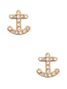 anchors away pave anchor studs - Kate Spade New York