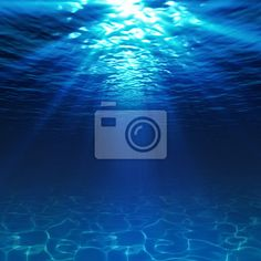 """Stickers """"clear, dark, depth - underwater view with sandy seabed"""" ✓ Easy Installation ✓ 365 Day Money Back Guarantee ✓ Browse other patterns from this collection!"""