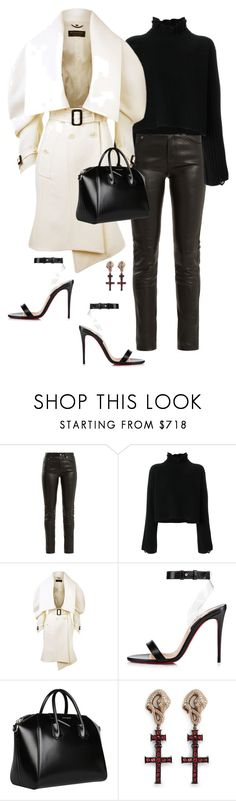 """Madison"" by ccoss ❤ liked on Polyvore featuring Yves Saint Laurent, Golden Goose, Burberry, Christian Louboutin, Givenchy and Delfina Delettrez"