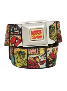 Marvel Comics Seat Belt Belt | Hot Topic