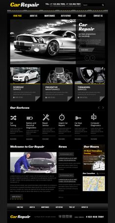 Car Repair Service Twitter Bootstrap HTML Template by Dynamic Template