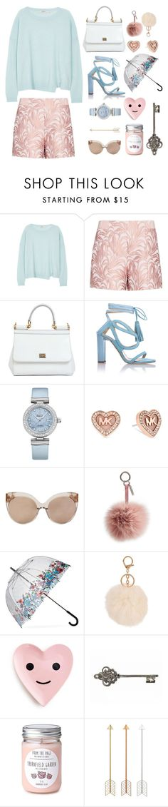 """""""Blue&pink"""" by nastyshi ❤ liked on Polyvore featuring мода, J Brand, Exclusive for Intermix, Dolce&Gabbana, Chelsea Paris, OMEGA, Michael Kors, Linda Farrow, Fendi и Fulton"""