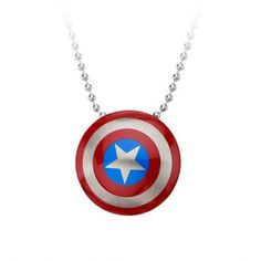 Marvel Comics Captain America's Shield Stainless Steel Pendant... (17 DKK) ❤ liked on Polyvore featuring jewelry, necklaces, marvel comics, stainless steel jewellery, stainless steel chains jewelry, stainless steel pendant and pendant jewelry