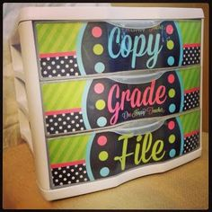 A cute and easy DIY way to keep the papers on your desk neat and tidy!