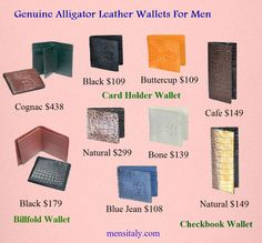 be820dceb0bc Genuine Leather Wallets in different styles, shapes and designs are  available at mensitaly .The