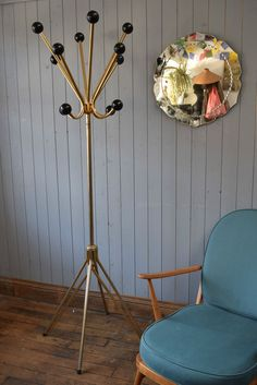 Old Wardrobe Cult Retro 1950s Years Be Friendly In Use Coat Hook Hat Rack Hook Rail Wood