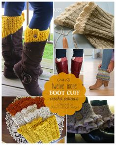 12 Free Boot Cuff Crochet Patterns | Daisy Cottage Designs-That's my pattern in the lower left corner! :)