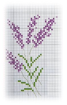 Gallery.ru / Фото #141 - Lavanda - sbst Counted Cross Stitch Patterns, Cross Stitch Borders, Cross Stitch Flowers, Cross Stitching, Cross Stitch Embroidery, Cross Stitch Numbers, Just Cross Stitch, Modern Cross Stitch, Lavender Crafts